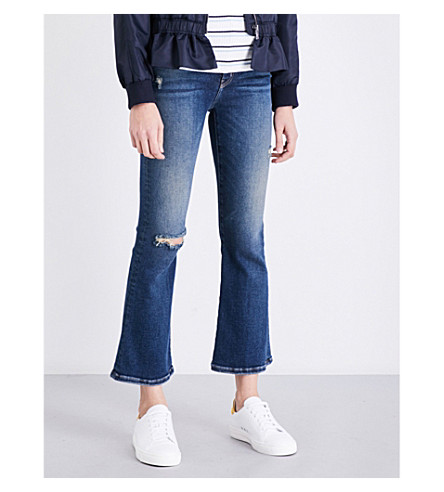 CURRENT/ELLIOTT The Kick cropped high-rise jeans (Wren+destroy