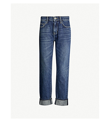 CURRENT/ELLIOTT The Fling tapered high-rise jeans (1+year+worn+rigid