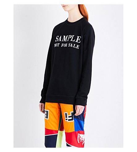 KSENIA SCHNAIDER Sample Not for Sale stretch-jersey sweatshirt (Black