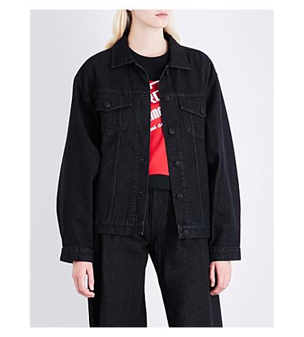 KSENIA SCHNAIDER Sample Not for Sale denim jacket (Black