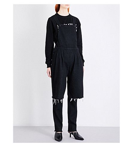 KSENIA SCHNAIDER Demi-denims denim jumpsuit (Black