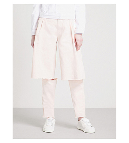 KSENIA SCHNAIDER Demi Denims wide high-rise jeans (Pale+pink