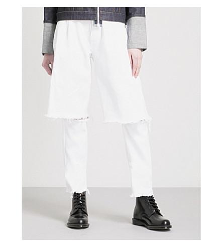KSENIA SCHNAIDER Demi Denims wide high-rise jeans (White