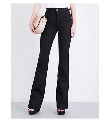 FIORUCCI The Edie flared high-rise jeans (Black