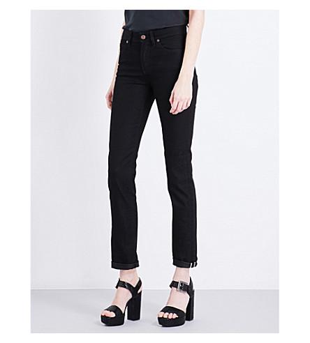 FIORUCCI Yves Cigarette straight high-rise jeans (True+black