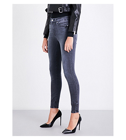 GOOD AMERICAN Good Legs skinny high-rise cropped jeans (Grey002