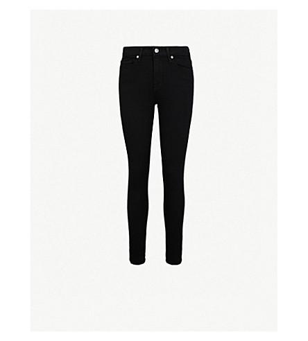 GOOD AMERICAN Good Legs Crop skinny high-rise jeans (Black001