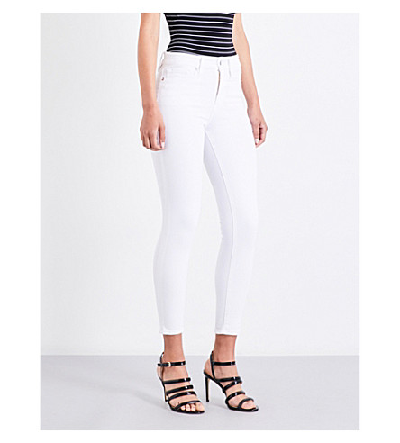 GOOD AMERICAN Good Legs Crop skinny high-rise jeans (White001