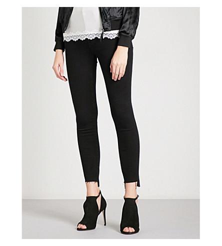 GOOD AMERICAN Good Legs Raw Stagger skinny high-rise jeans (Black001