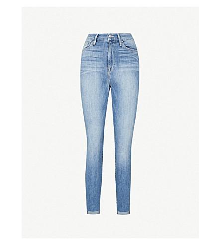 GOOD AMERICAN Good Legs stepped-hem skinny high-rise jeans (Blue007