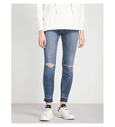 GOOD AMERICAN Good Legs Release Hem skinny high-rise jeans (Blue097