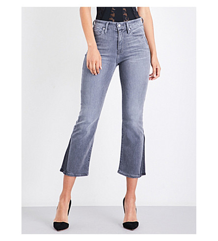 GOOD AMERICAN Mini Boot bootcut cropped jeans (Grey003