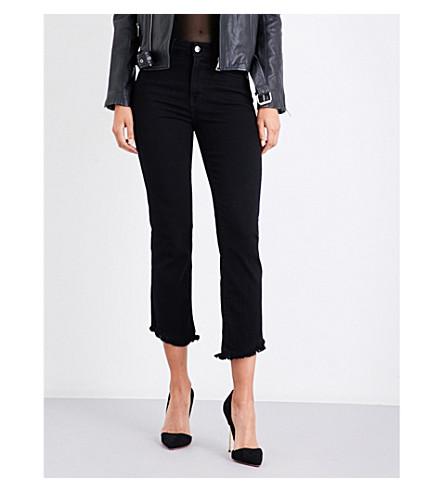 GOOD AMERICAN Tulip-hem vintage-fit high-rise jeans (Black001