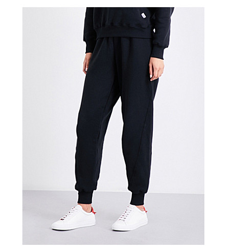 GOOD AMERICAN Slim-fit cotton-jersey jogging bottoms (Black