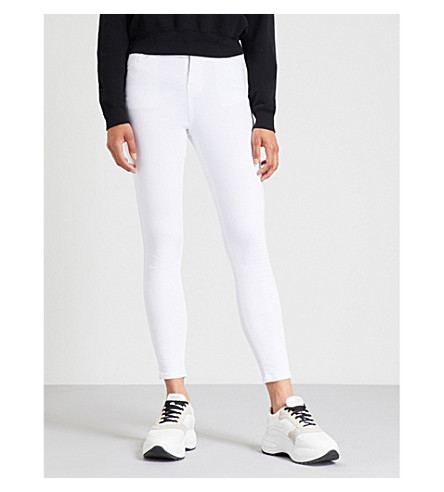 HERA Cropped skinny high-rise jeans (White