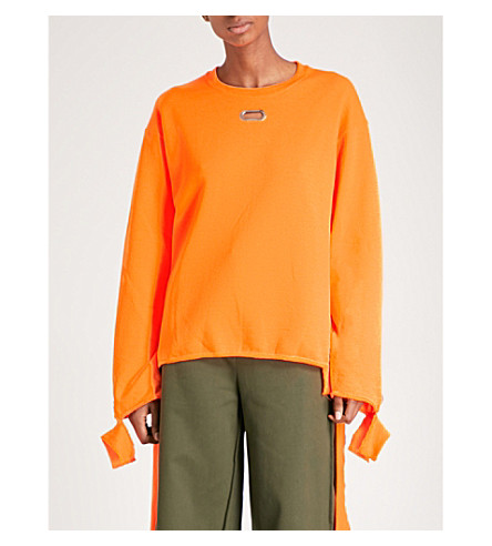 COLLINA STRADA Grommet jersey sweatshirt (Orange