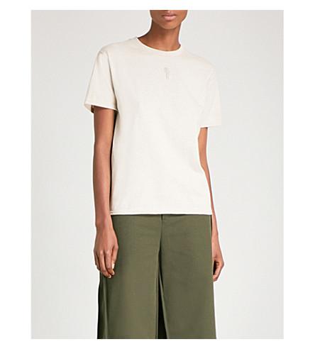 COLLINA STRADA Genderless cotton-jersey T-shirt (Sand