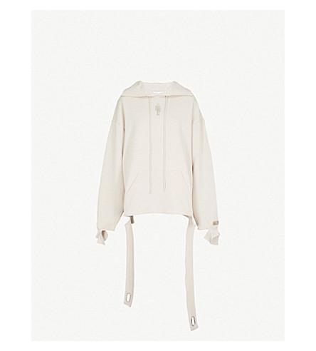 COLLINA STRADA Genderless cotton-blend hoody (Sand