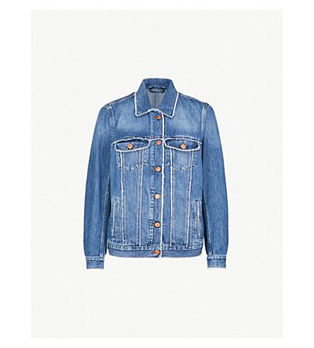 7 FOR ALL MANKIND Oversized denim trucker jacket (Crush