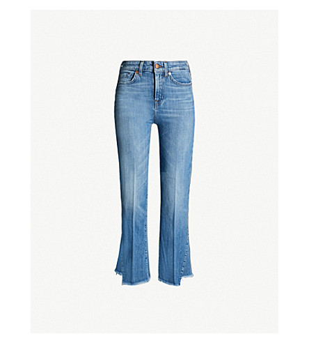 7 FOR ALL MANKIND Asymmetric-hem high-rise jeans (Wonders