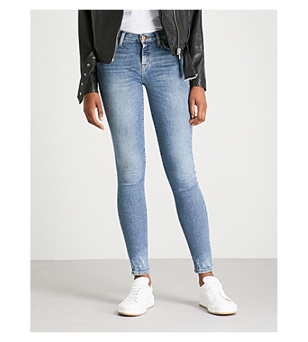 7 FOR ALL MANKIND The Skinny mid-rise stretch-denim jeans (Nostalgia