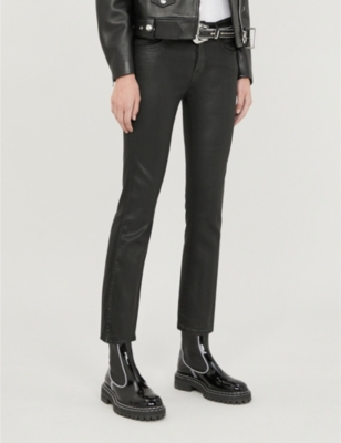 Slim Illusion cropped boot-cut high-rise jeans