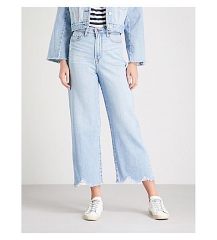 NOBODY DENIM Freya wide-leg high-rise jeans (Carefree