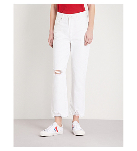 NOBODY DENIM Charlotte Ankle straight high-rise jeans (Dazzling