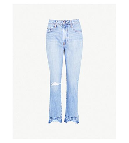 NOBODY DENIM Charlotte Ankle straight high-rise jeans (Presence