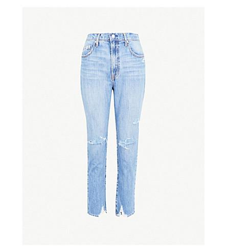 NOBODY DENIM Frankie straight high-rise jeans (Unknown