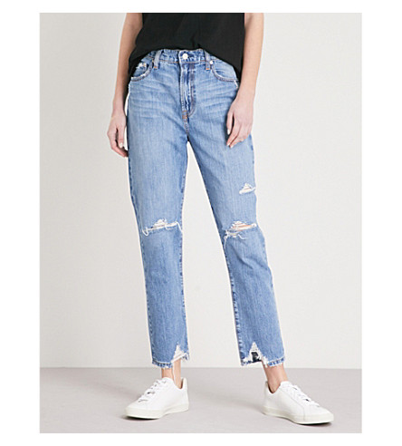 NOBODY DENIM Frankie straight high-rise jeans (Unknown