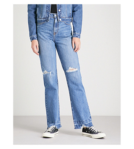 NOBODY DENIM Arlo Jean Long straight high-rise jeans (Obsessive
