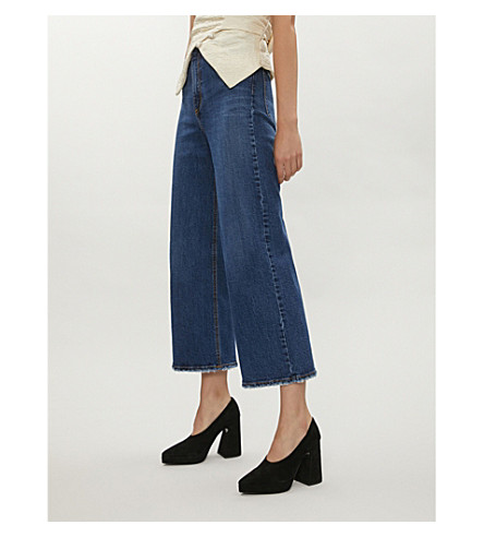 NOBODY DENIM Milla wide-leg high-rise jeans (Ambitious