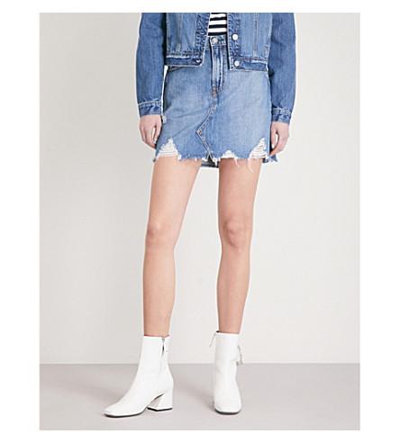 NOBODY DENIM Piper distressed denim skirt (Sass