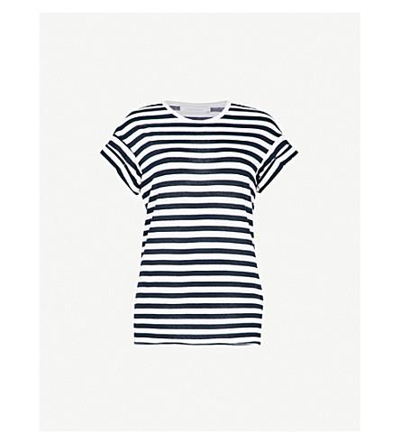 NOBODY DENIM Organic Roll striped cotton-jersey T-shirt (Blue+stripe