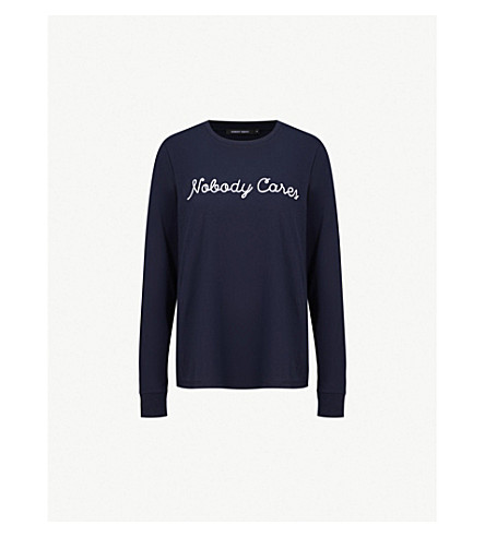 NOBODY DENIM Nobody Cares cotton-jersey top (Oxford