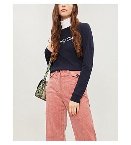 NOBODY DENIM Nobody Cares cotton-jersey top (Oxford