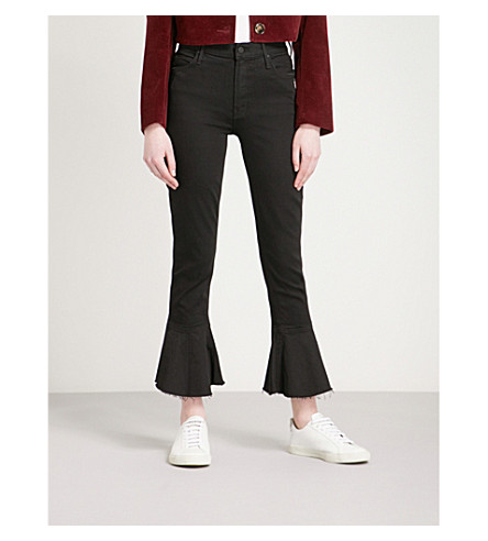 MOTHER The Cha Cha skinny flared high-rise jeans (Not+guilty