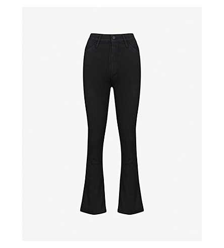 MOTHER Hustler Ankle Fray flared high-rise jeans (Not+guilty