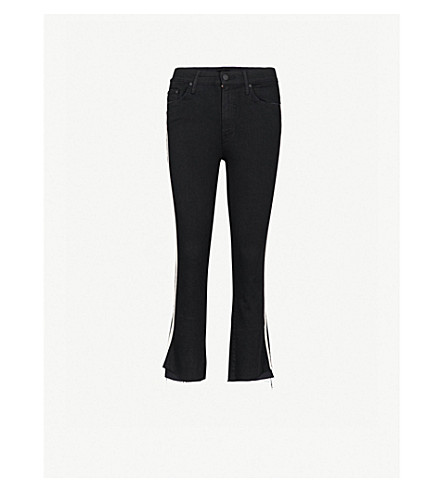 MOTHER The Insider Crop Step slim-fit skinny high-rise jeans (Guilty+racer