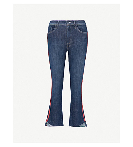 MOTHER The Insider Crop Step slim-fit high-rise jeans (Spped racer