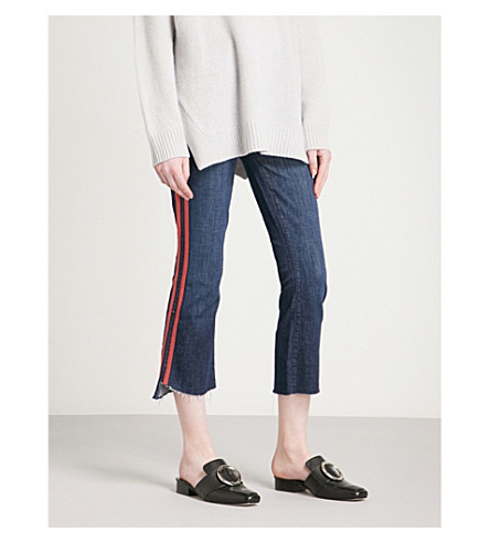 MOTHER The Insider Crop Step slim-fit high-rise jeans (Spped+racer