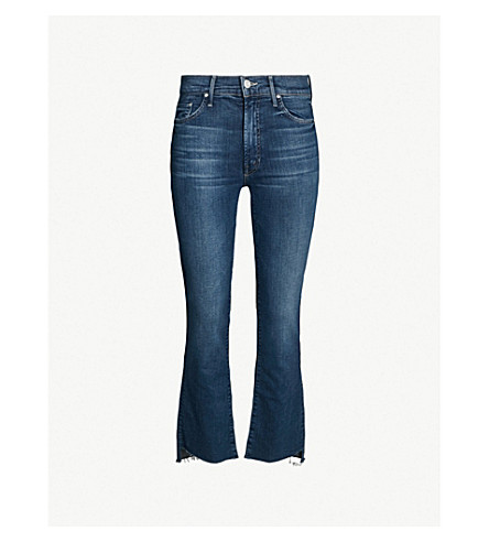 MOTHER Insider Crop stepped-hem straight jeans (Turn of the tide