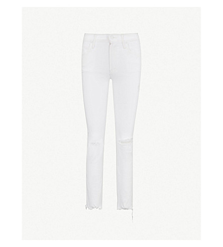 MOTHER Flirt Ankle Fray mid-rise skinny jeans (Almost+innocent