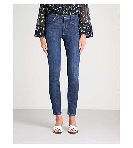 MOTHER The Looker slim-fit skinny mid-rise jeans (Clean+sweep