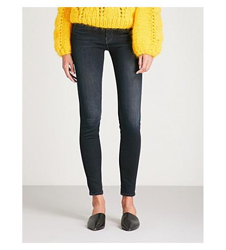 MOTHER The Looker slim-fit skinny mid-rise jean (Coffee+tea+or+me