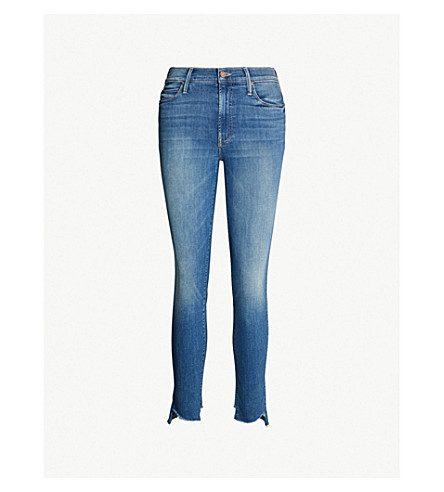 MOTHER The Stunner mid-rise faded skinny jeans (Love for sail