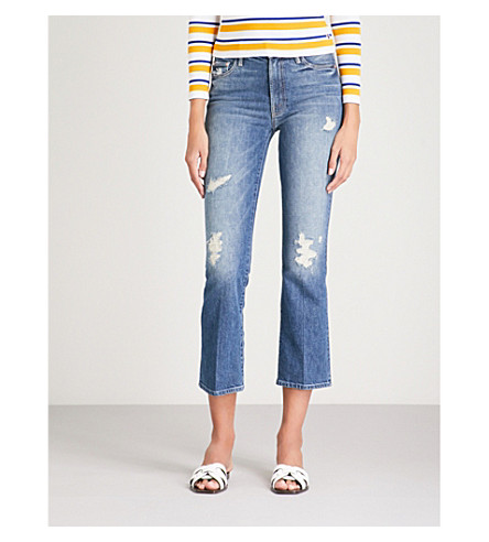 MOTHER The Insider Ankle slim-fit straight high-rise jeans (Testing+the+waters
