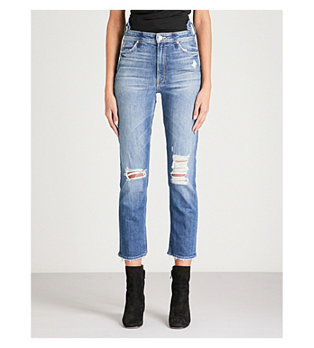 MOTHER The Dazzler Shift slim-fit straight mid-rise jeans (Your+treat+or+mine