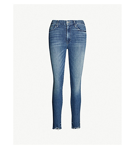 MOTHER Looker cropped mid-rise faded skinny jeans (The ones we used to know